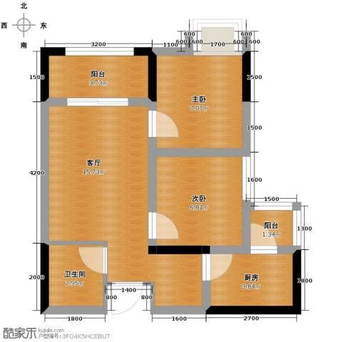 兴隆城市广场2室1厅1卫1厨62.00㎡户型图