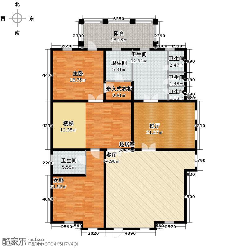 金科王府414.11㎡33-1二层户型10室