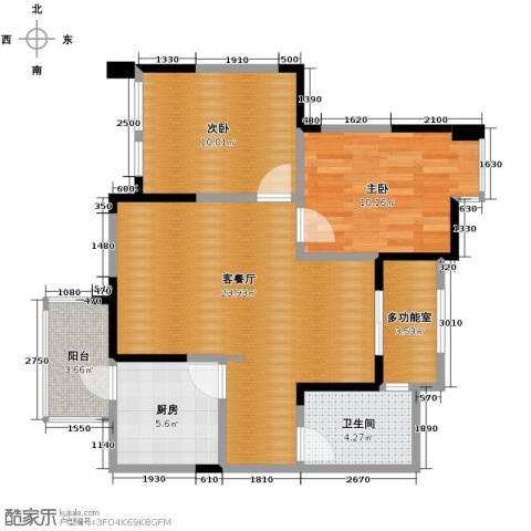 蒂梵尼TOWN2室2厅1卫0厨80.00㎡户型图