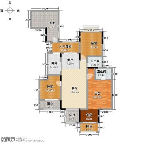 斌鑫中央国际公园3室2厅2卫0厨125.88㎡户型图