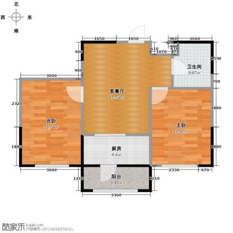 温莎小镇2室1厅1卫0厨67.00㎡户型图