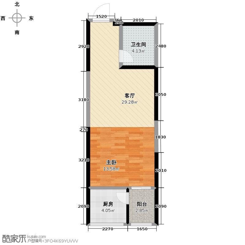 美寓华庭三期高新尚居44.99㎡美寓华庭户型10室