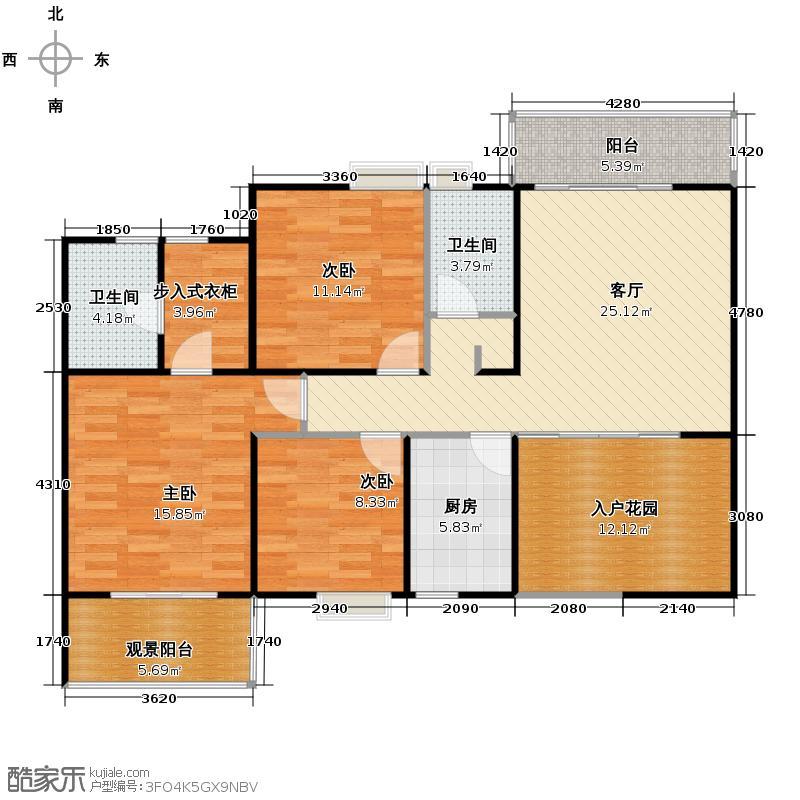勤诚达雅阁国际110.09㎡8#三-十八层平面图b2(115m2)户型10室