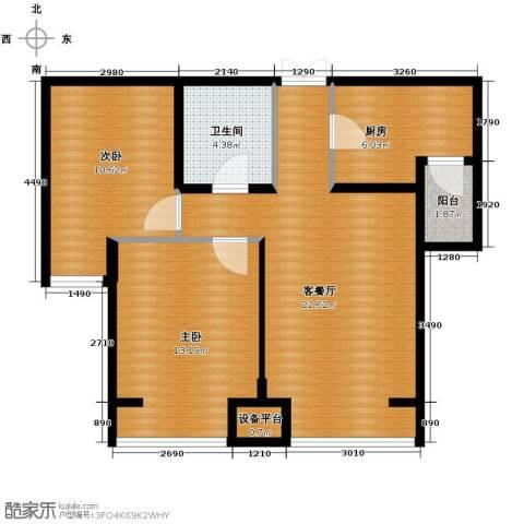 永泰枕流GOLF公寓78.00㎡户型图
