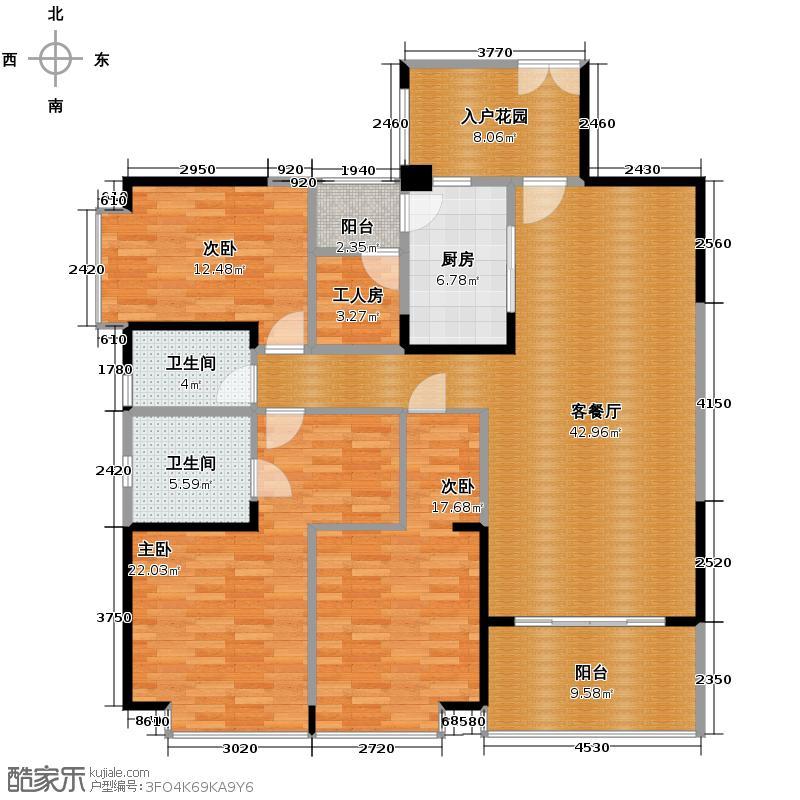 仁和春天国际花园155.76㎡A2户型10室
