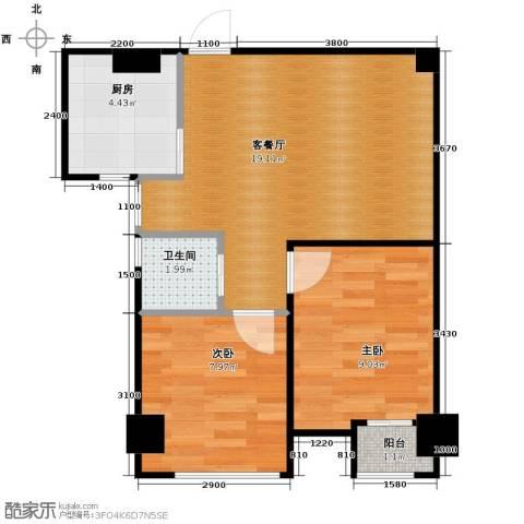 圣联香御公馆62.00㎡户型图
