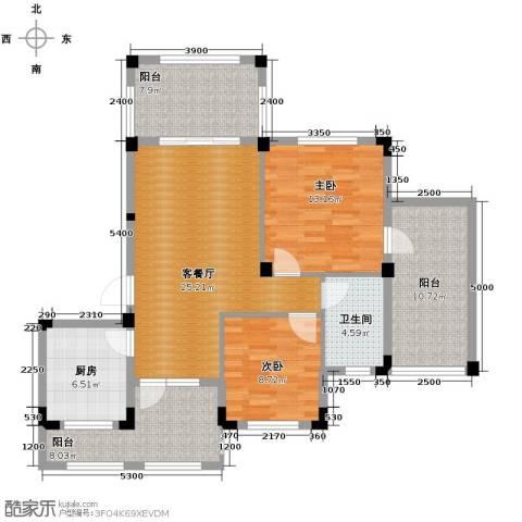 当代安普顿小镇2室2厅1卫0厨95.00㎡户型图