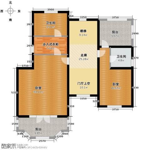 团泊湖庭院162.00㎡户型图