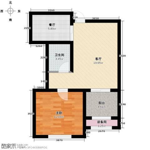 新湖・香格里拉1室2厅1卫0厨69.00㎡户型图