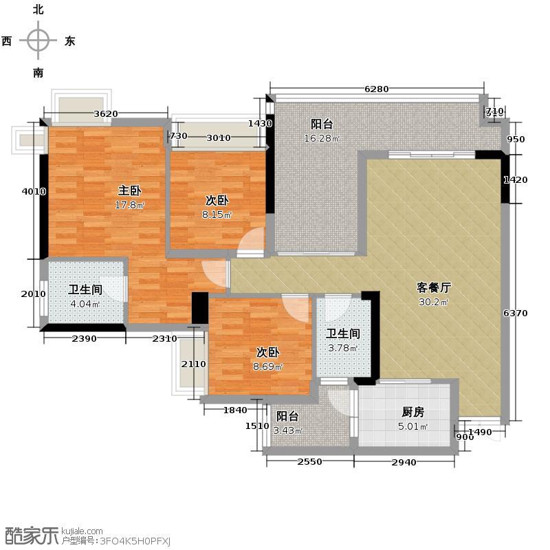 中亿阳明山水111.45㎡户型10室