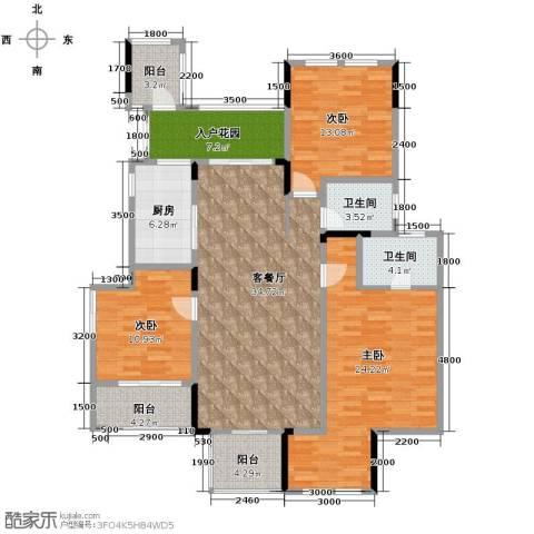 斌鑫中央国际公园3室2厅2卫0厨120.00㎡户型图