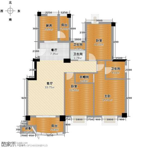 新澳蓝草坪1室1厅3卫1厨113.00㎡户型图