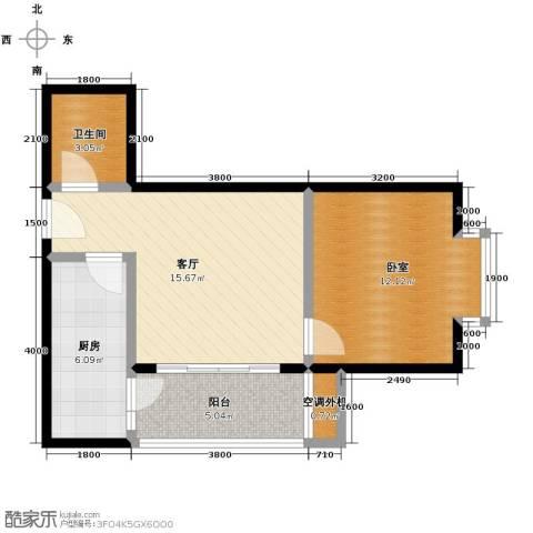 大兴新悦城1室1厅1卫0厨58.00㎡户型图