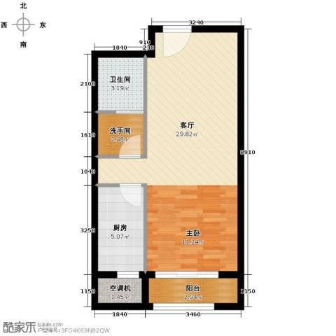 柒麟湾1室1厅1卫0厨64.00㎡户型图