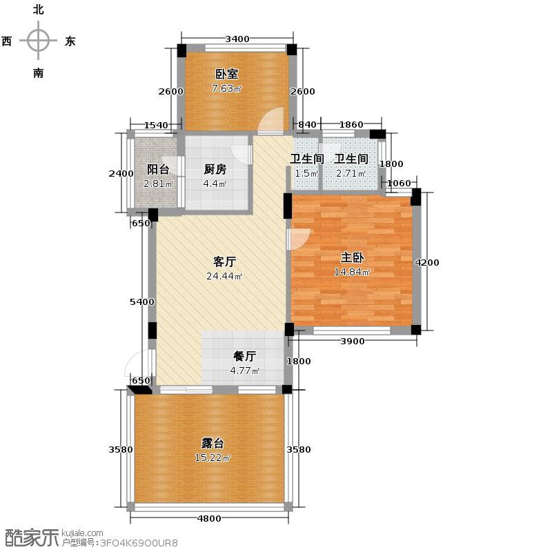 当代国际花园十五区高层81.42㎡户型10室