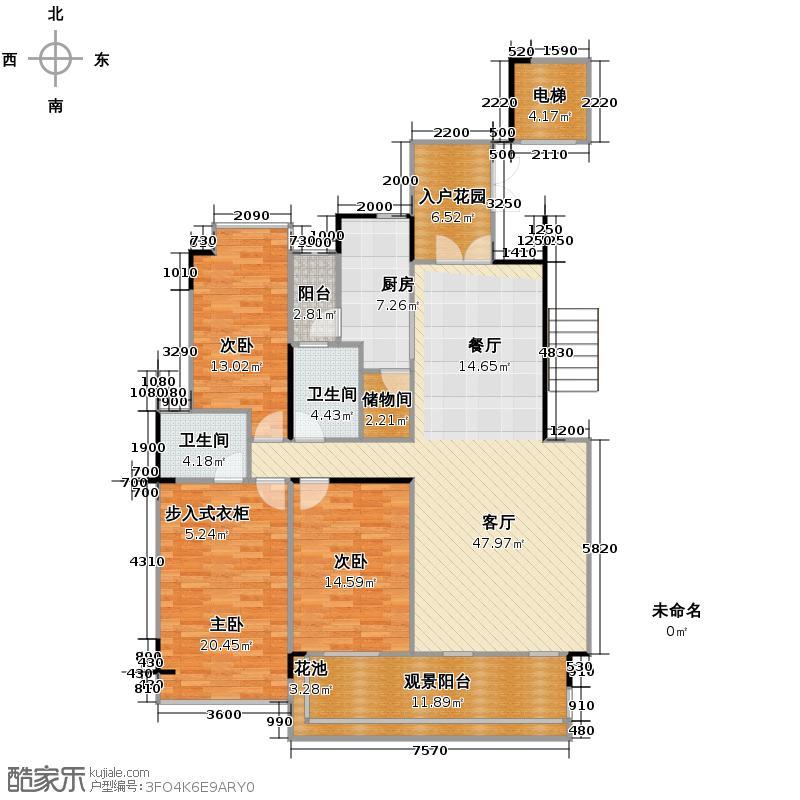 路劲隽悦豪庭147.61㎡E区29栋02单位户型3室2厅2卫