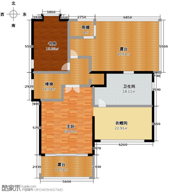 盈峰翠邸184.18㎡D2三层平面图户型10室