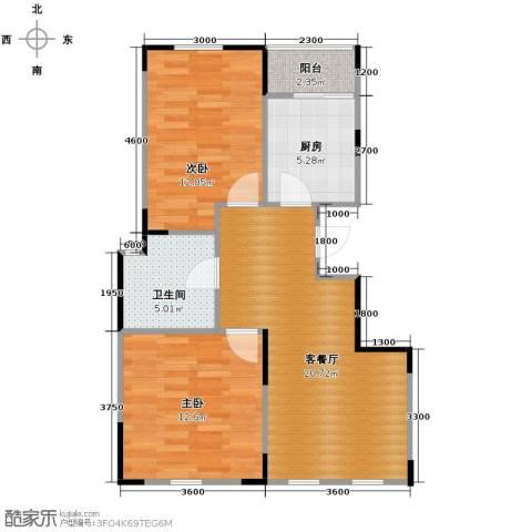 智造创想城2室2厅1卫0厨81.00㎡户型图