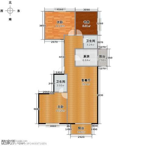 新天地鹭港3室2厅2卫0厨142.00㎡户型图
