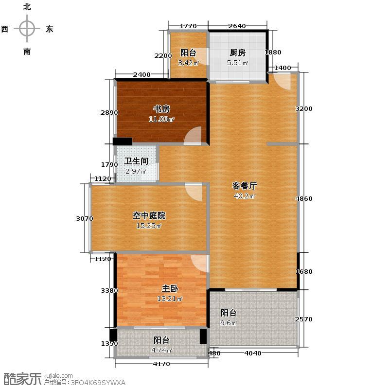 泰然南湖玫瑰湾114.00㎡户型10室