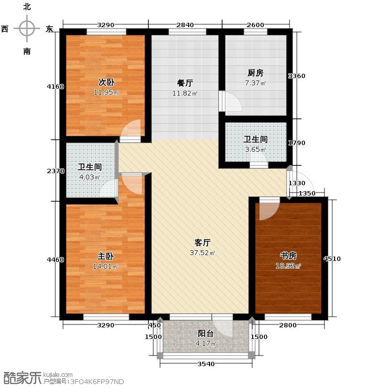 苏堤春晓123.00㎡户型10室
