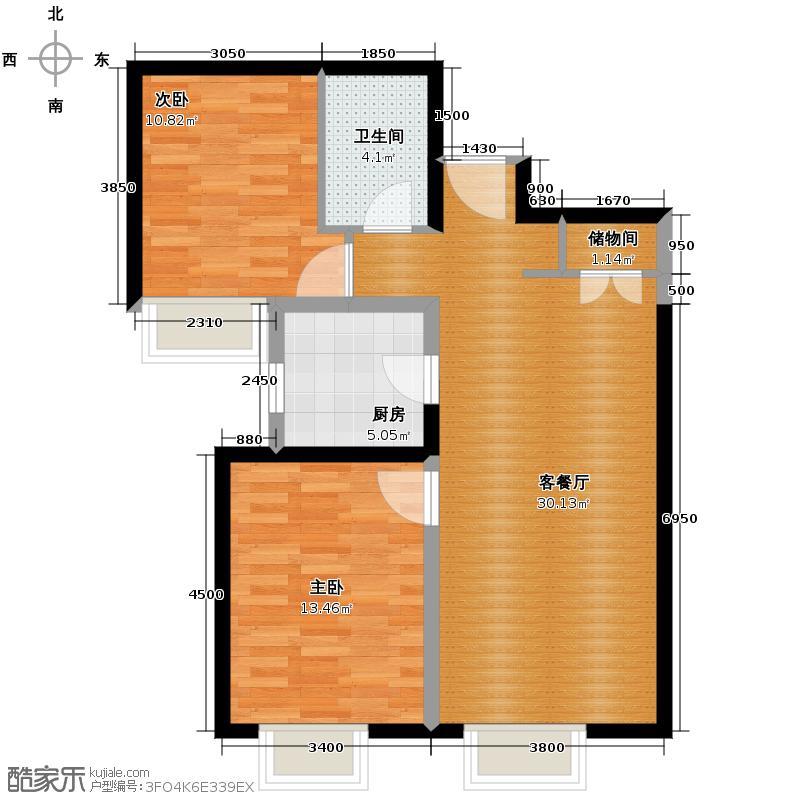京贸国际城91.49㎡4号楼B户型10室