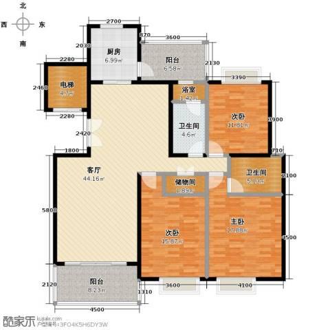 天一城3室1厅2卫1厨182.00㎡户型图