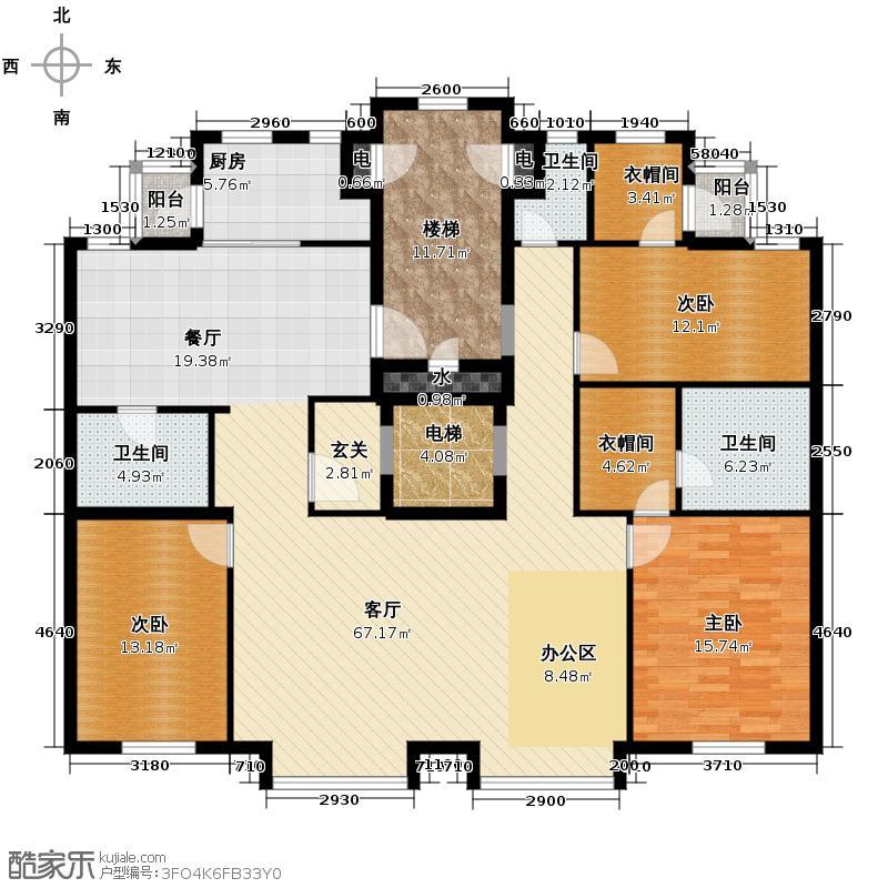 太阳世家172.00㎡拼户型3室2厅3卫