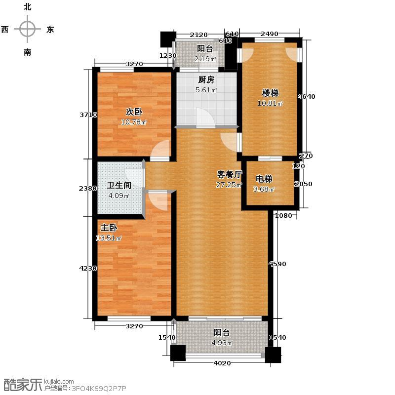 一品嘉园94.47㎡A1户型2室2厅1卫