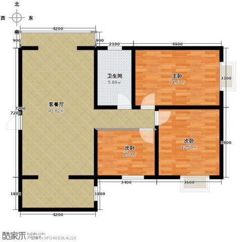 林河春天3室1厅1卫0厨114.00㎡户型图