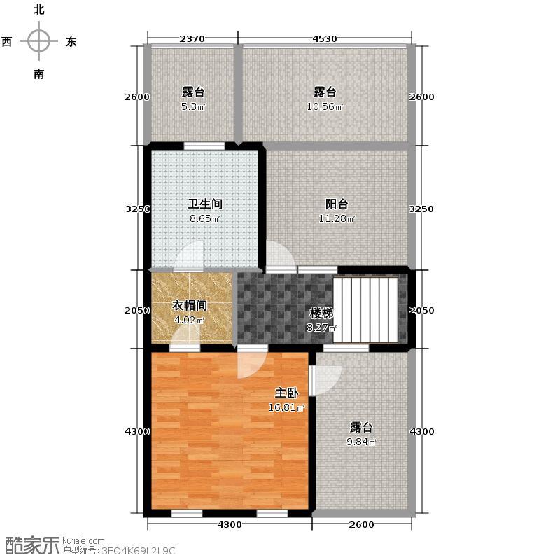 懿品府84.18㎡7号楼1205-C-01三层户型10室