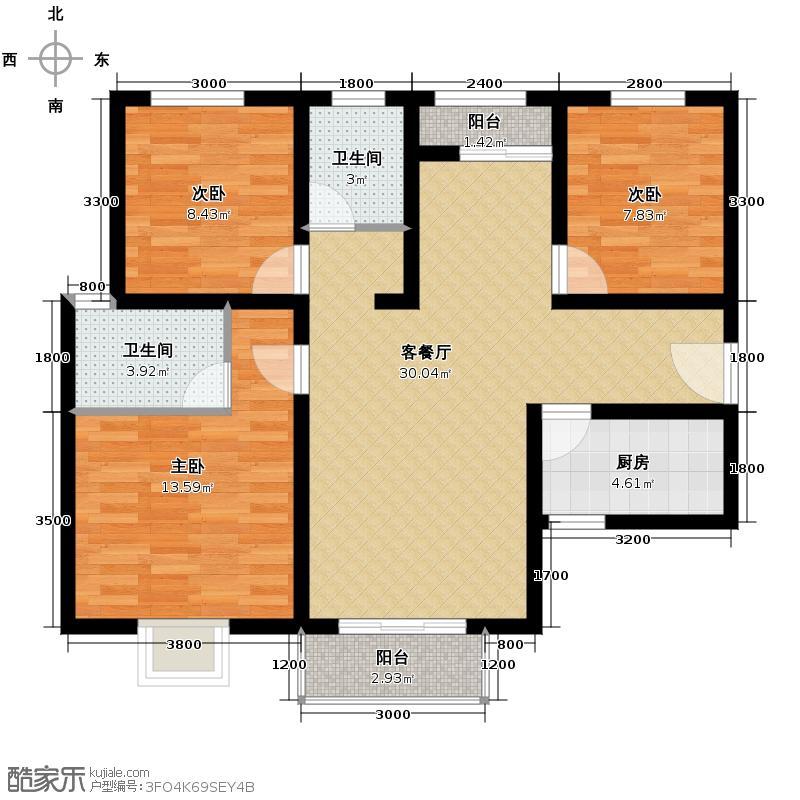 香缤国际城88.36㎡户型10室