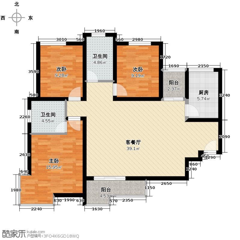 颐和盛世118.00㎡22号楼M3户型3室2厅2卫