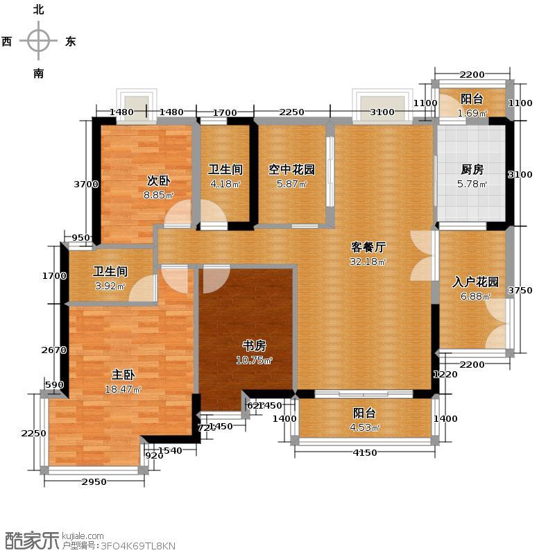 富力城117.69㎡双卫户型10室