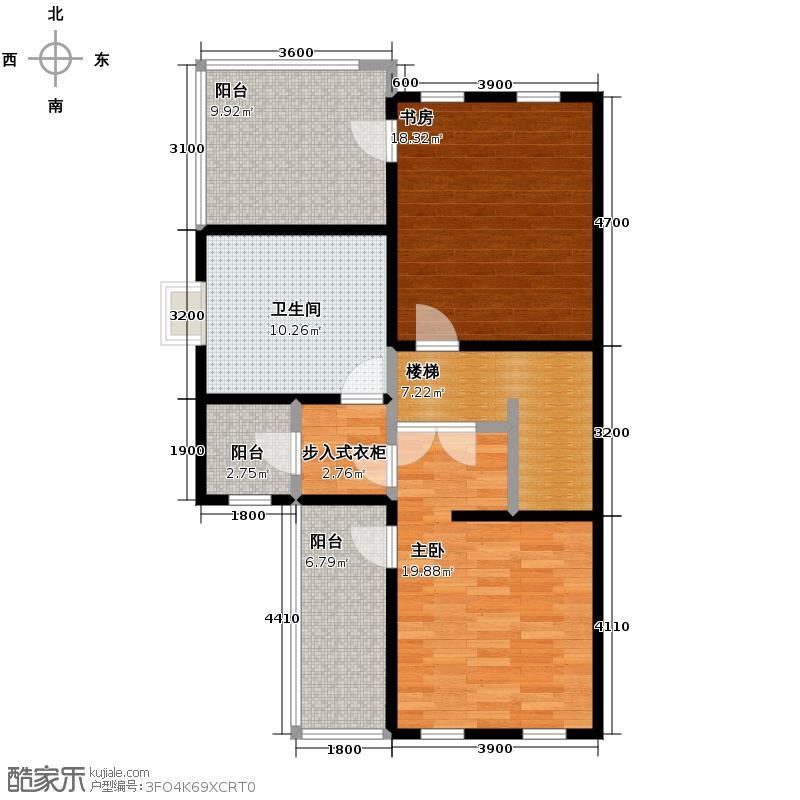 懿品府84.27㎡7号楼1205-G-01三层户型10室