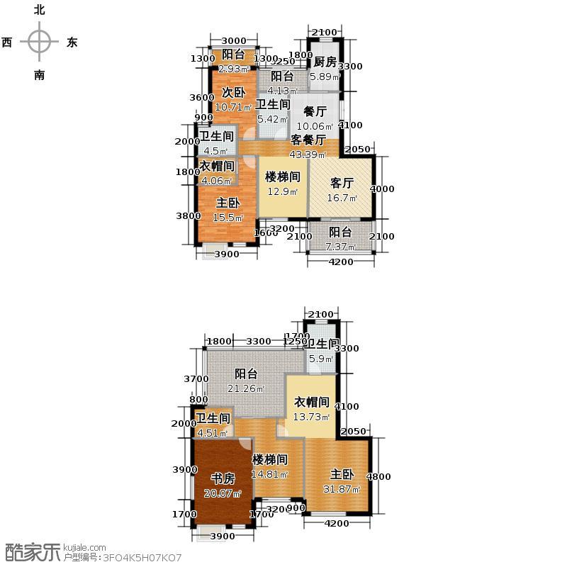 香博城221.35㎡A1-跃型户型5室2厅4卫