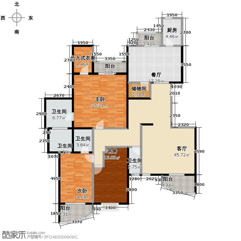 银河湾219.61㎡二期C3(售完)户型3室2厅4卫1厨