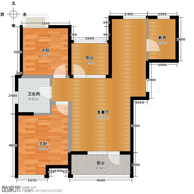 景瑞阳光尚城78.11㎡1114-B1-2户型10室