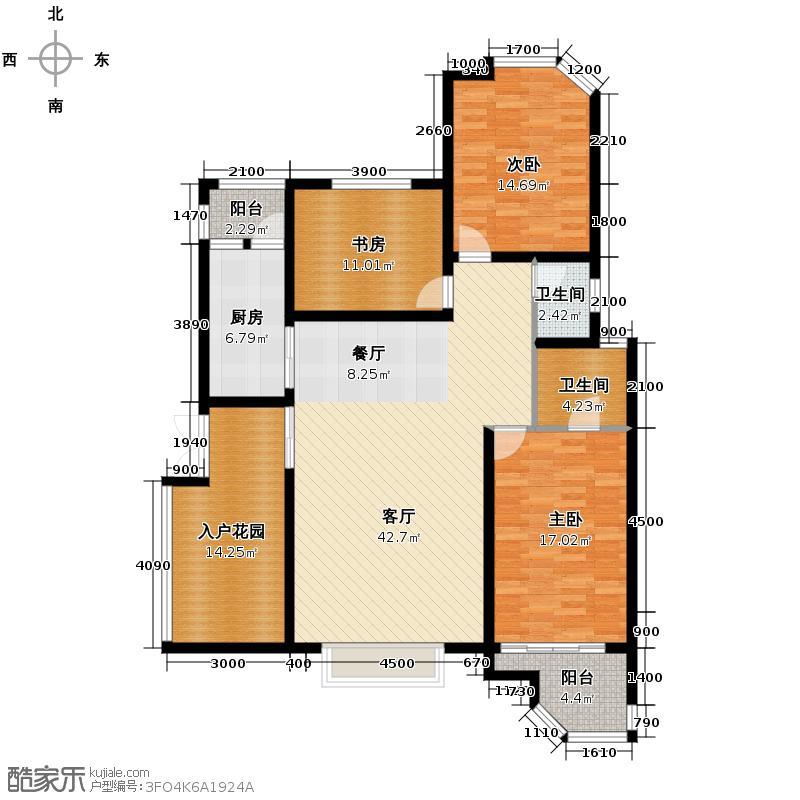 格林英郡135.64㎡31-1-户型3室1厅2卫1厨