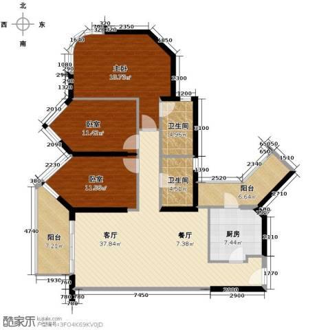 珊瑚水岸3室2厅2卫0厨154.00㎡户型图