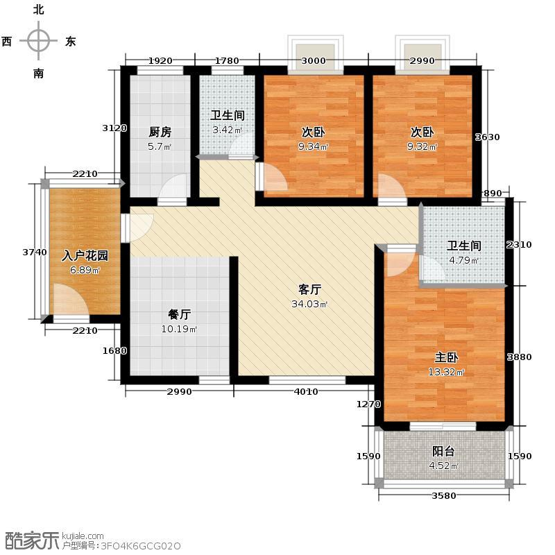 颐和盛世108.22㎡K3户型3室2厅2卫