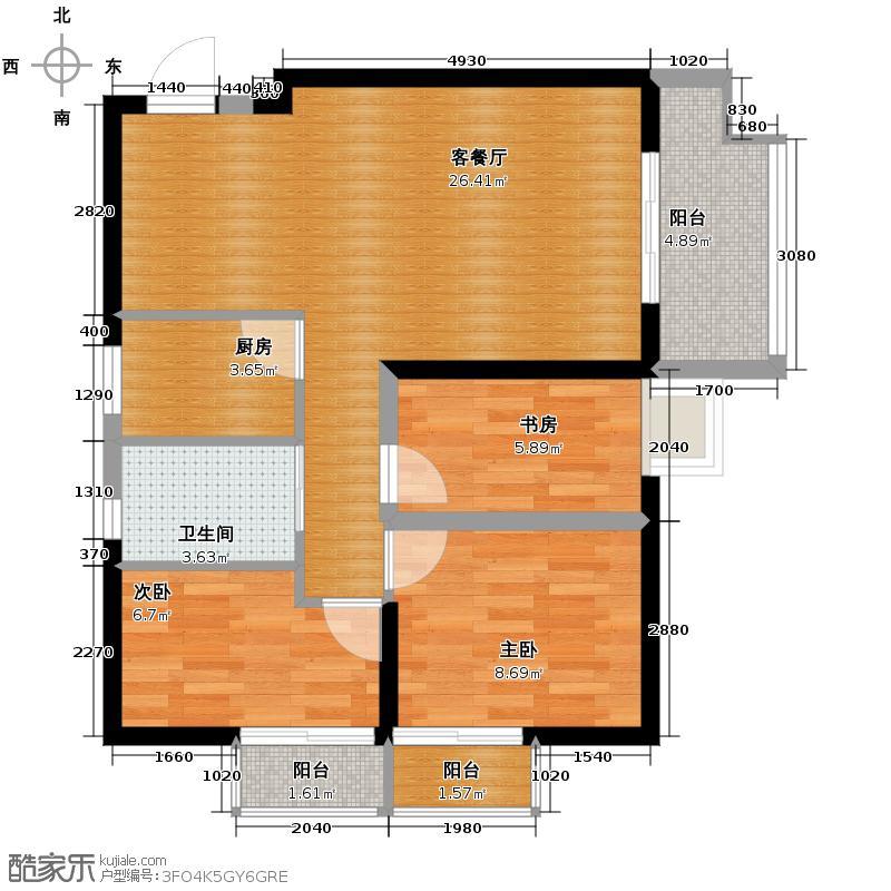东方罗马花园87.55㎡-75套户型10室