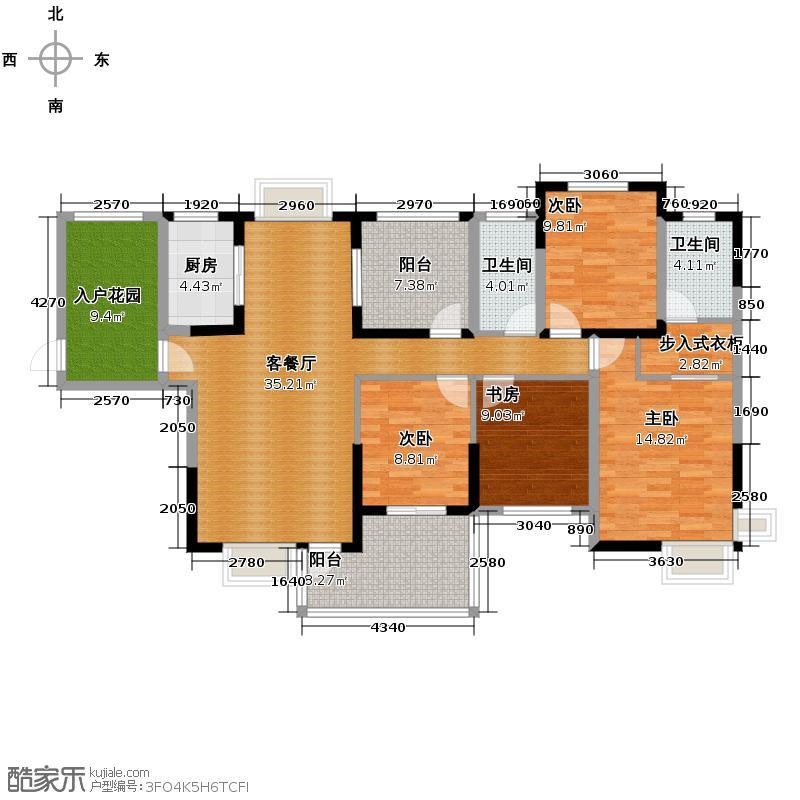 保利心语139.48㎡房型户型10室