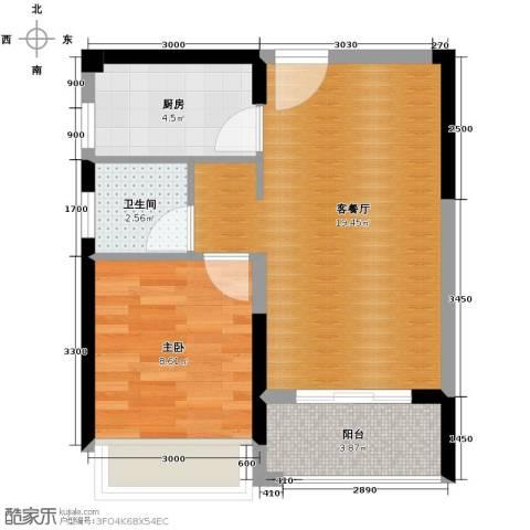 光谷8号1室2厅1卫0厨60.00㎡户型图