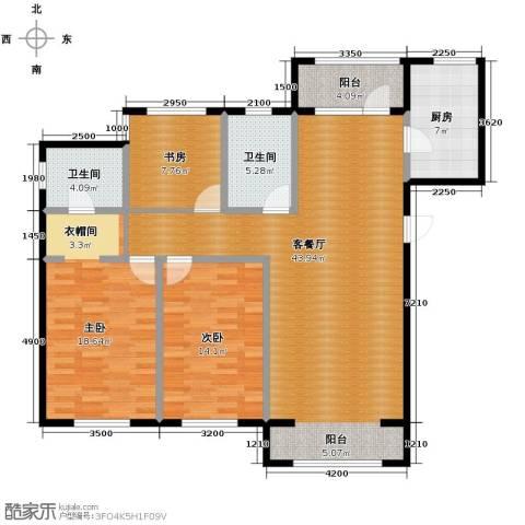 荣馨园3室2厅2卫0厨151.00㎡户型图