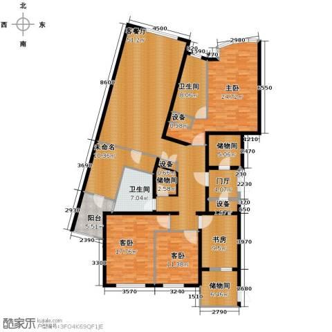 公园18724室2厅2卫0厨170.00㎡户型图