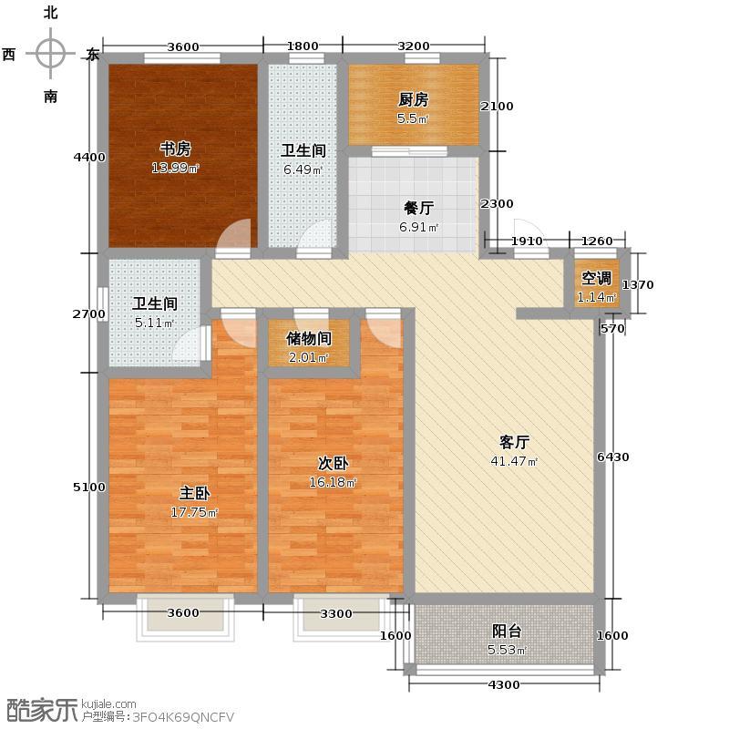 金色国际公寓149.58㎡M户型10室