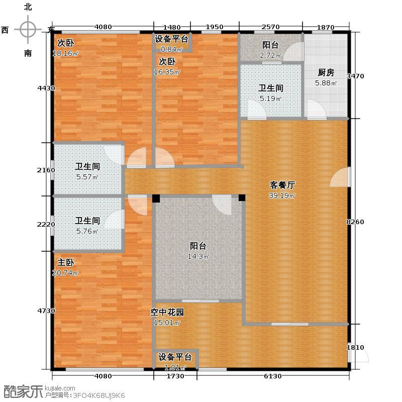森迪时代广场177.00㎡A户型10室