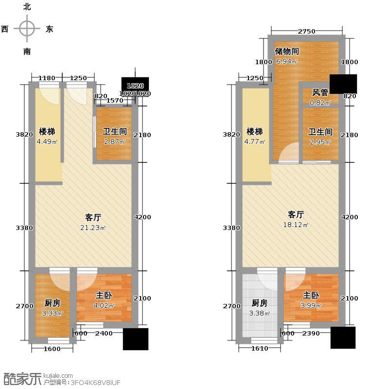 龙城国际79.95㎡22号楼V3'跃层户型10室