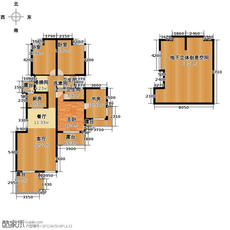 当代国际花园十五区高层223.65㎡户型10室